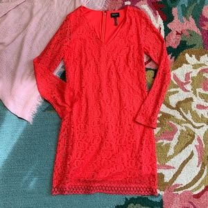 Laundry by Shelli Segal Red Lace Dress